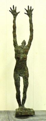 brons,hoogte 42cm.