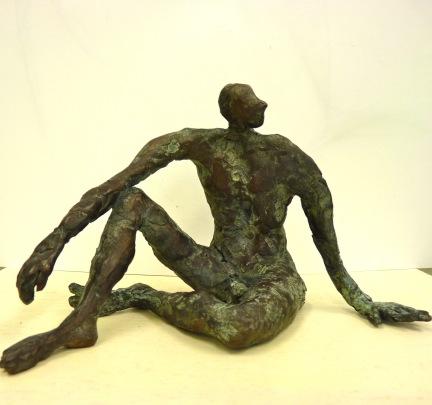 brons, hoogte 14 cm.